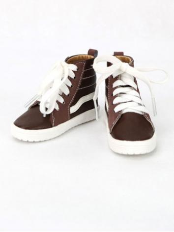 1/3 1/4 Shoes Male White/Brown/Black Shiny Leisure Shoes for 70cm/SD/MSD Size Ball-jointed Doll