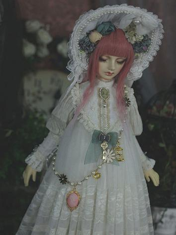 1/3 Outfit Girl White Dress 【Bai Teng】 for SD16/SD13/SD10 Ball-jointed Doll