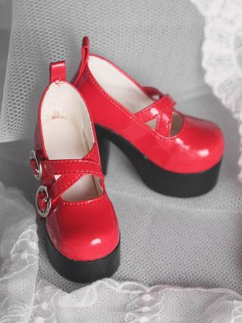 1/3 Female Shoes Red High-h...
