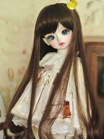 1/3 Wig Chocolate Long Hair for YSD/MSD/SD Size Ball-jointed Doll