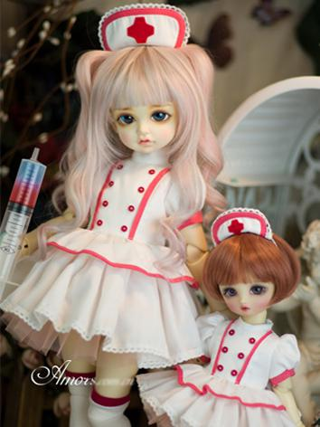 【Limited Item】BJD Clothes 1/4 1/6 Girl Nurse Suit for SD/MSD/YSD Ball-jointed Doll