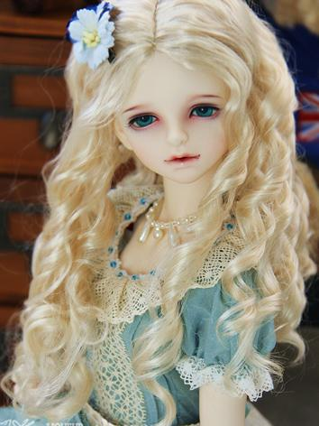 1/3 1/4 1/6 Girl Wig Gold H...