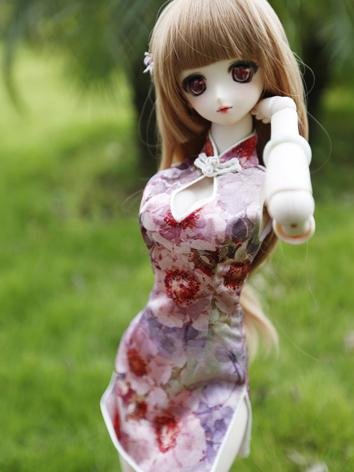 1/3 1/4 Dress Chinese Dress for SD/MSD size Ball-jointed Doll