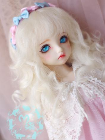 1/3 1/4 1/6 Wig Beige Curly...