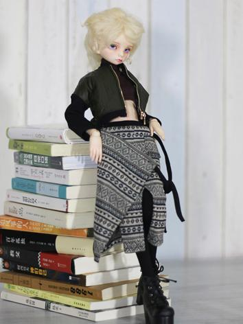 1/4 Clothes Girl Dark Green Jacket Suit for MSD Ball-jointed Doll