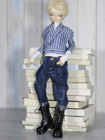 1/4 Clothes Boy Stripe Jacket+Trousers Leisure Suit for MSD Ball-jointed Doll