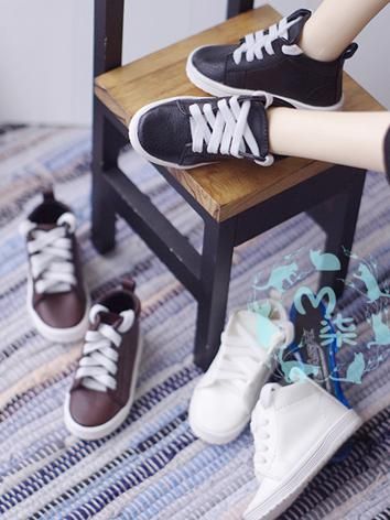 1/3 1/4 Shoes Male White/Coffee/Black Leisure Shoes for MSD Size Ball-jointed Doll