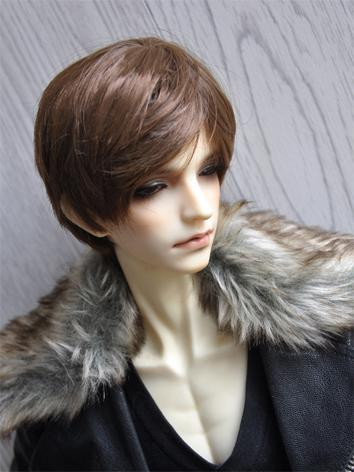 1/3 1/4 1/6 Wig Male Gold/Brown Short Curly Hair for SD/MSD/YSD Size Ball-jointed Doll