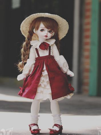 1/3 1/4 1/6 Wine Dress +Happy Naught Honey+ for YSD/MSD/SD Size Ball-jointed Doll