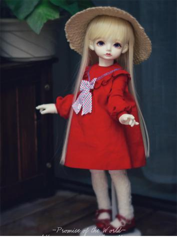 1/4 Red dress for MSD Size Ball-jointed Doll