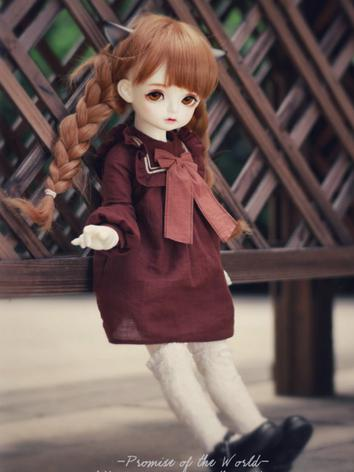 1/3 1/4 Dark Brown Dress for MSD/SD Size Ball-jointed Doll