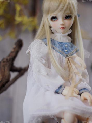 1/4 White Dress for MSD Size Ball-jointed Doll