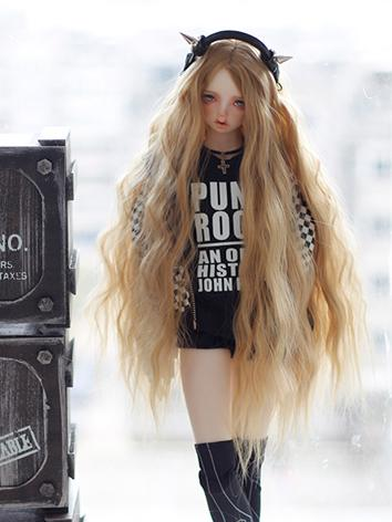 1/3 Wig 9-10inch Girl Curly Hair D04 for SD Size Ball-jointed Doll