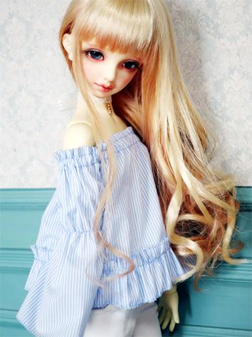 1/3 1/4 Clothes Light Blue Shirt for SD/DD/MSD Size Ball-jointed Doll