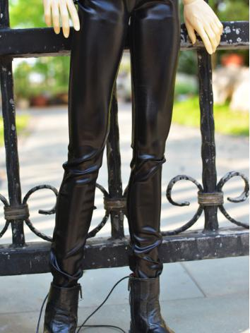 1/3 1/4 70cm Clothes Elasticated Leather Trousers A023 for MSD/SD/70cm Size Ball-jointed Doll