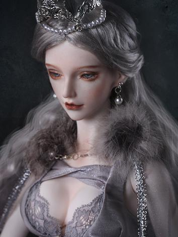 1/3 Girl Gray Curly Wig WG3...