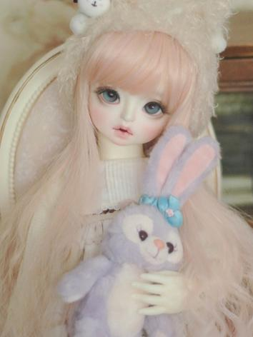 1/3 Wig Pink Curly Hair for SD Size Ball-jointed Doll