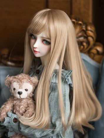 1/3 Wig Light Brown Hair for SD Size Ball-jointed Doll