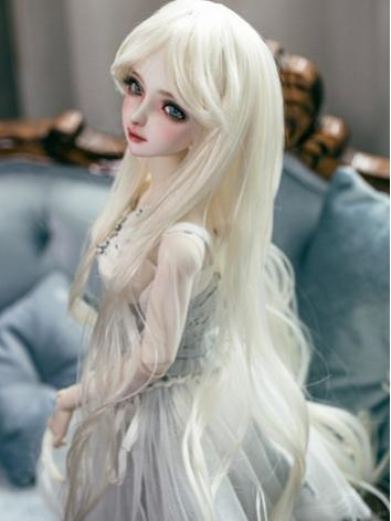 1/3 Wig Beige Long Curly Hair for SD Size Ball-jointed Doll
