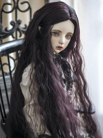 1/3 Wig Purple Black Curly ...