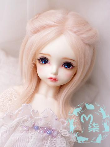 1/3 1/4 1/6 Wool Wig Pink Hair for SD/MSD/YSD Size Ball-jointed Doll