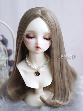 Girl Gold/Light brown Hair 1/3 1/4 1/6 Wig for SD Size Ball-jointed Doll