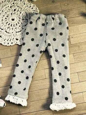 1/6 1/4 Clothes Dots Printed Trousers for MSD/YSD Ball-jointed Doll