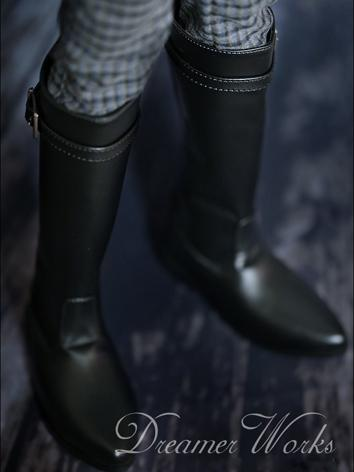 1/3 1/4 70cm Bjd Shoes Boy Black High Boots for SD/MSD Ball-jointed Doll