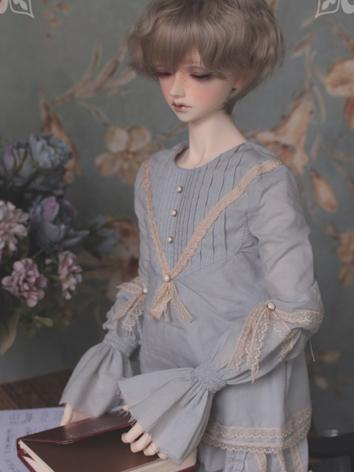 1/3 1/4 1/6 Blue/White Shirt +Here's Lullaby to Close Your Eyes+ for YSD/MSD/SD Size Ball-jointed Doll