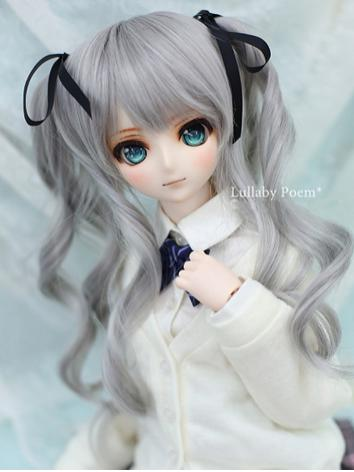 1/3 Wig Sweet Girl Gray Hair LPW033 for SD Size Ball-jointed Doll