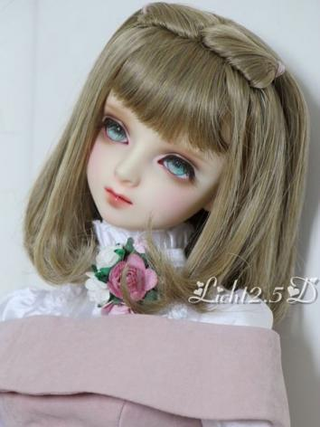 1/3 1/4 1/6 Wig Girl Light Gold/Flaxen Hair[NO67] for SD/MSD/YSD Size Ball-jointed Doll