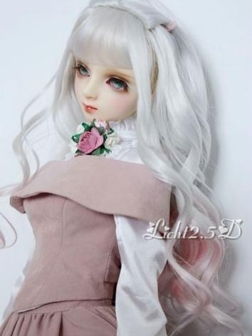 1/3 1/4 1/6 Wig Girl Light Gold/Silver Hair[NO54] for SD/MSD/YSD Size Ball-jointed Doll