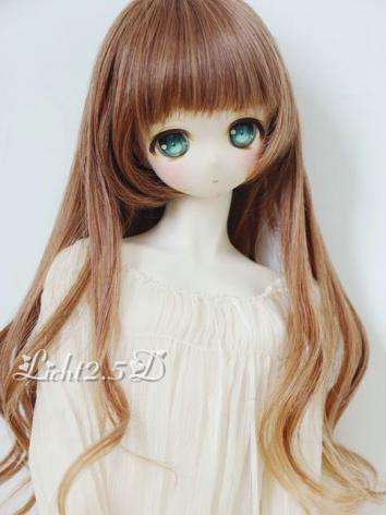 1/3 1/4 1/6 Wig Girl Brown/Silver Hair[NO190] for SD/MSD/YSD Size Ball-jointed Doll