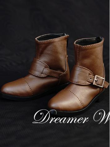 1/3 Shoes Male Black/Brown Short Boots for SD Ball-jointed Doll