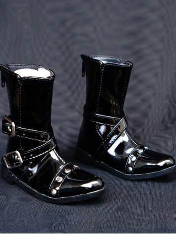 1/3 Shoes Male Black Short Boots for SD Ball-jointed Doll