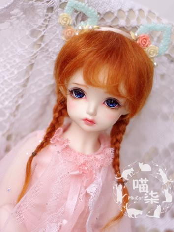 1/4 1/6 Wig Girl Oranges Brunches Hair for MSD/YSD Size Ball-jointed Doll