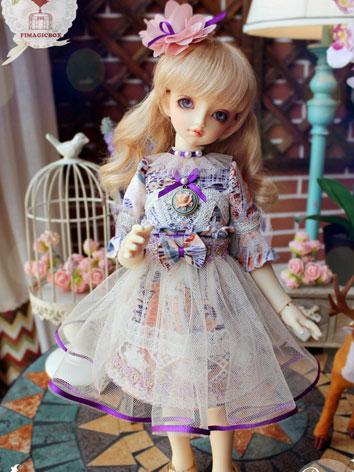 BJD Clothes Girl Purple&Blu...
