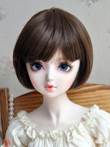 1/3 1/4 1/6 Wig Girl Chocolate Short BoBo Hair for SD/MSD/YSD Size Ball-jointed Doll