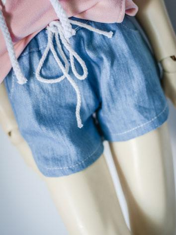 1/3 1/4 70cm Clothes Jeans Short Pants A194 for MSD/SD/70cm Size Ball-jointed Doll