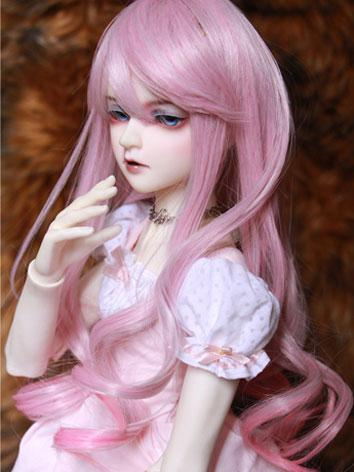BJD Female Pink Hair Wig fo...