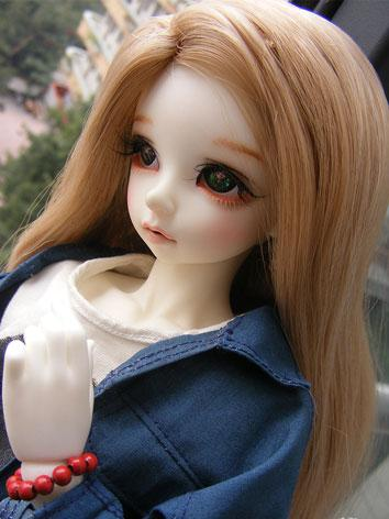 BJD Light Brown Curly Hair ...