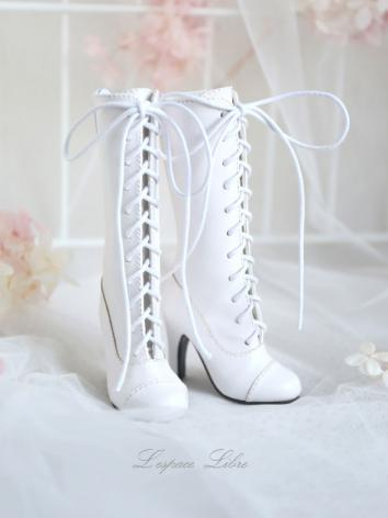1/3 Girl Shoes White High B...