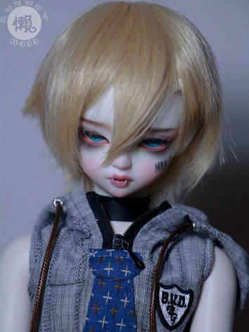 BJD Short Gold Hair Wig for...