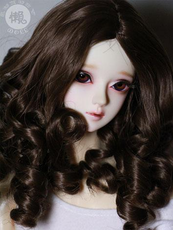 BJD Short Black Curly Hair ...