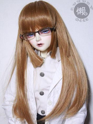 BJD Brown Straight Hair Wig...