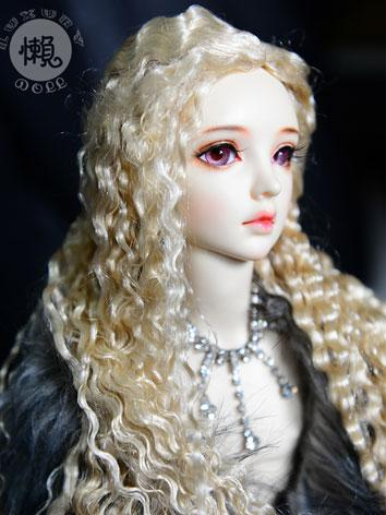 BJD Gold Curly Hair Wig for...