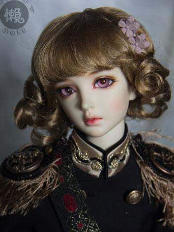 BJD Dark Brown Curly Hair W...