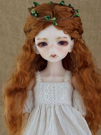 BJD Wig Female Carrot/Wine Curly HAIR Wig for SD/MSD/YSD Size Ball-jointed Doll
