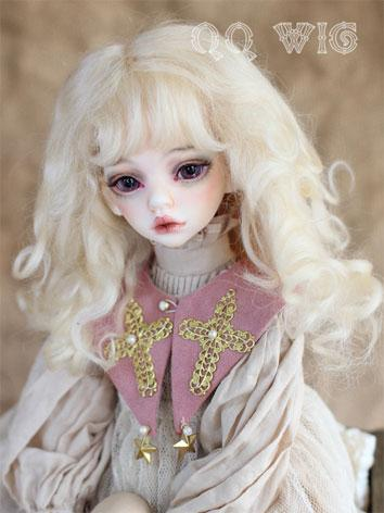 BJD Wig Female Light Gold/L...