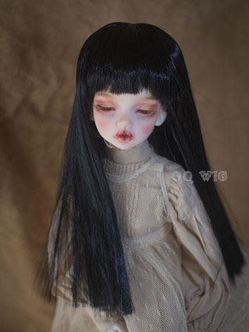 BJD Wig Female Black Straig...